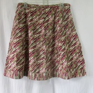 Royal Robbins Flared A Line Skirt Sz 12 Unlined